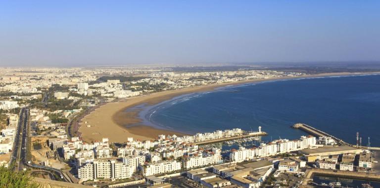 Agadir - Panorama över staden och kusten