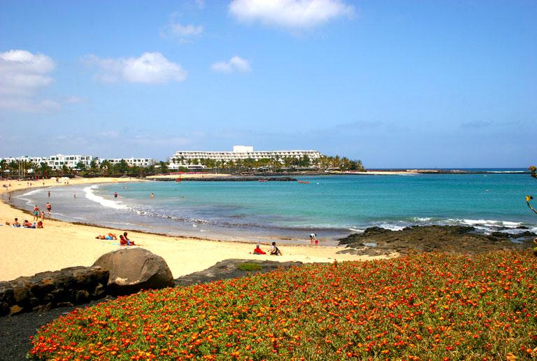 Strandbilde på Lanzarote - Kanariøyene