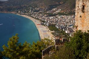 Den dejlige Kleopatra-strand i Alanya - Tyrkiet