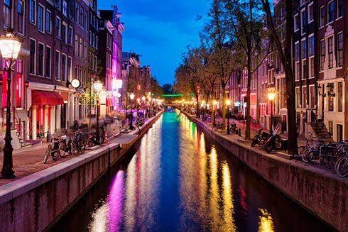 Aften i Amsterdam