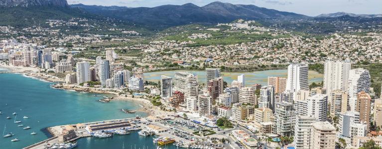 Alicante - Panorama över staden 768x300
