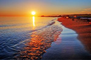 Solnedgang over Rødehavet - Egypten - Amisol