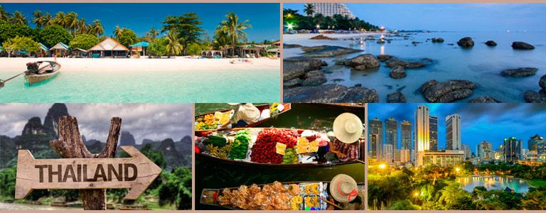 Thailand har mange badebyer utenfor Bangkok. Hua Hin, Pattaya, Jomtien er flotte eksempler