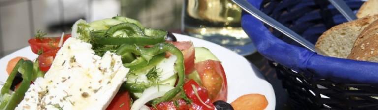 Njut god mat i Grækenland