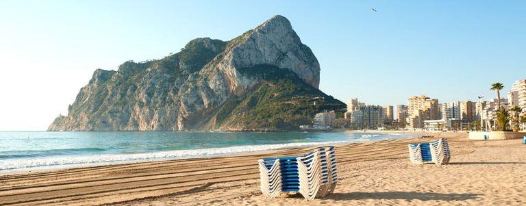 Stranden i Calpe