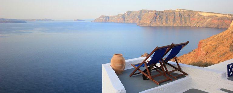 Fira på Santorini utsikt