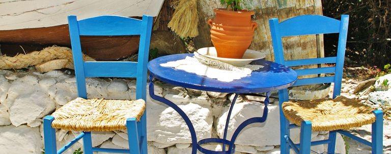 Litet cafe på Leros