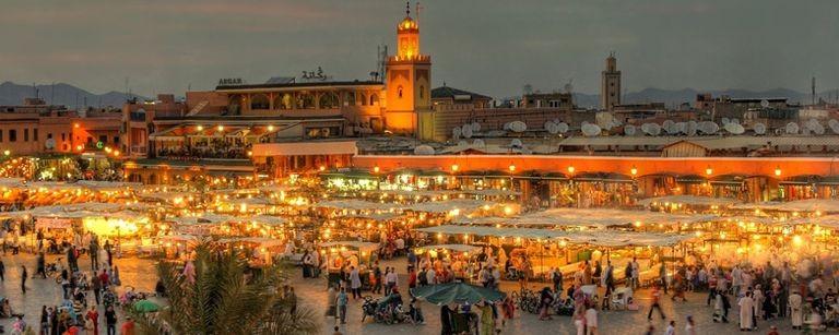 Marrakech kvällsmarknad