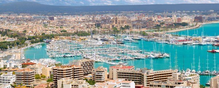 Vy över Palma de Mallorca