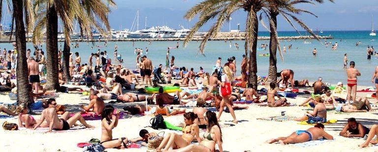 Stranden vid Playa de Palma