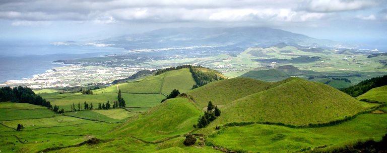Ponta Delgada från ovan