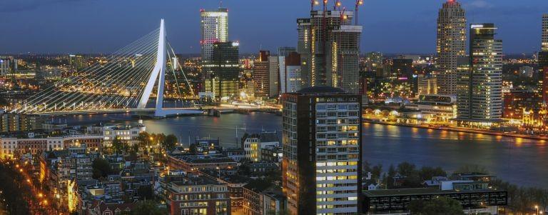 Utsikt över Rotterdam
