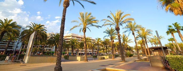 Strandpromenaden i Salou
