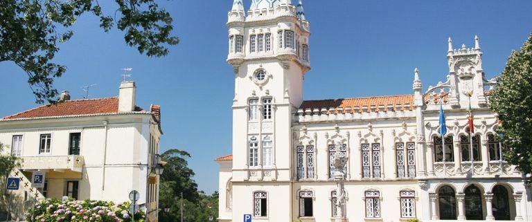Vackra hus i Sintra, Portugal