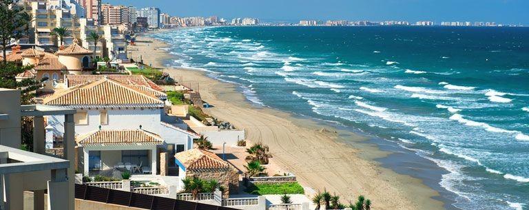 Stranden i Murcia