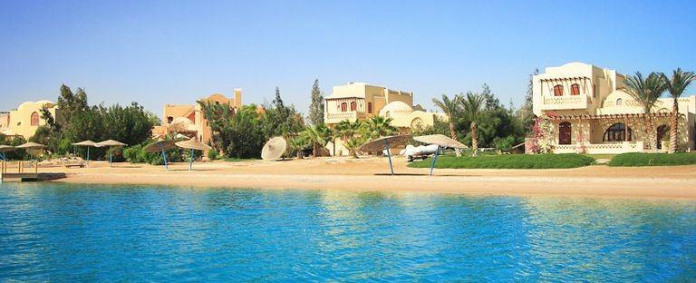 El Gouna hotell vid stranden