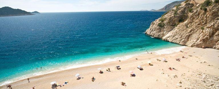 Stranden vid Kas, Turkiet