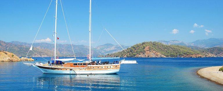 Strand i södra Turkiet