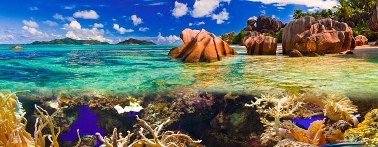La Digue, Seychellerna, Praslin, Mahe