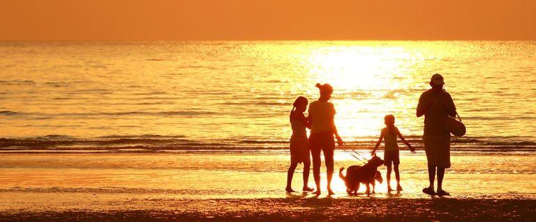 Stranden vid Tarragona Costa Dorada