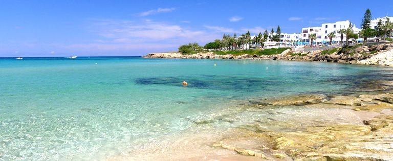 Strande på Cypern