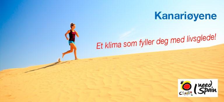 Kanariøyene - Løpe på sanden