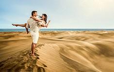 Par på stranden - Kanariøyene