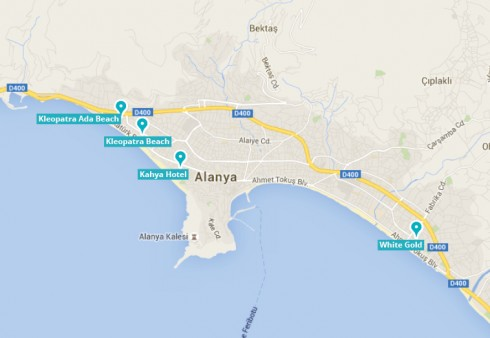 Kort over Alanya by