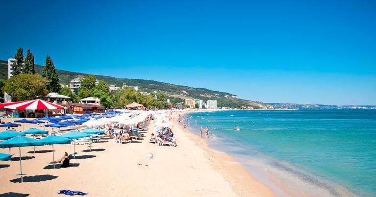 Deilig strand i Bulgaria