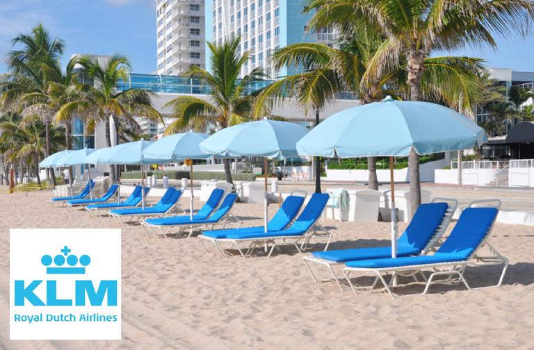 Vin flybilletter med KLM til Miami