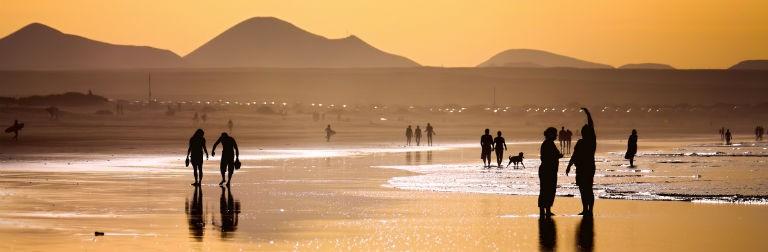 Lanzarote solnedgång 768x250