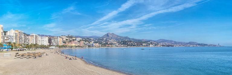Malaga strand 768x250