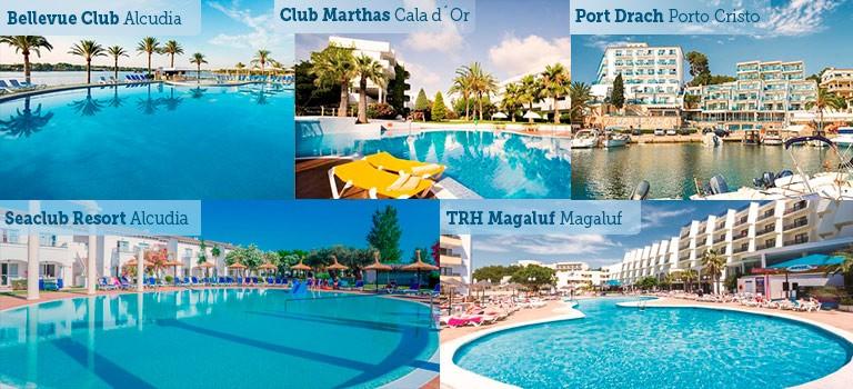 Fem storsäljande hotell Mallorca