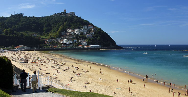 Playa de Ondarreta y Monte-San Sebastián