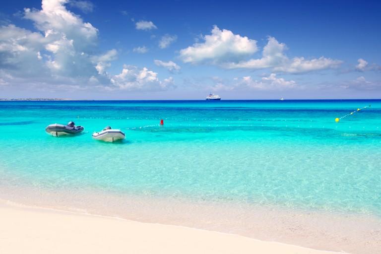 Illetas beach Formentera