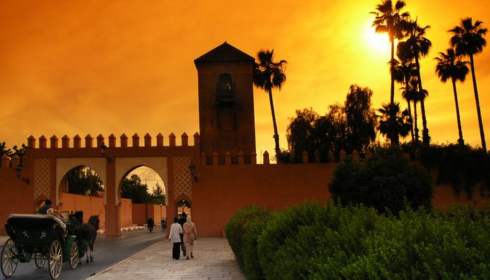 Marrakech-solnedgang